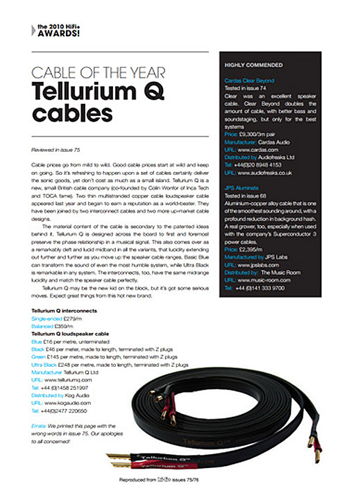 HiFi Plus Cable of the Year